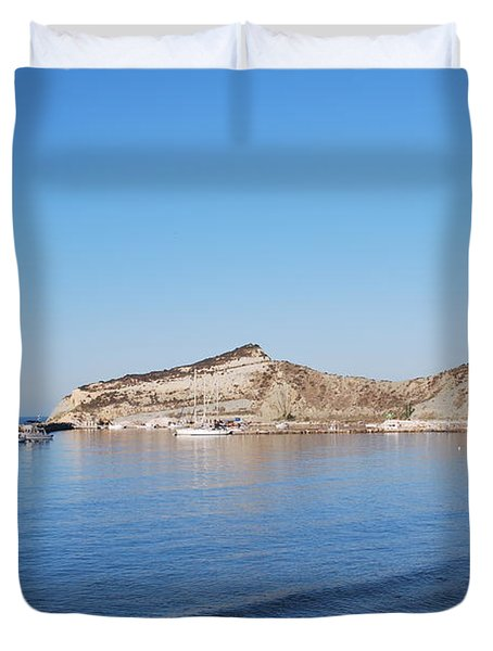 Duvet Cover featuring the photograph Blue Water by George Katechis
