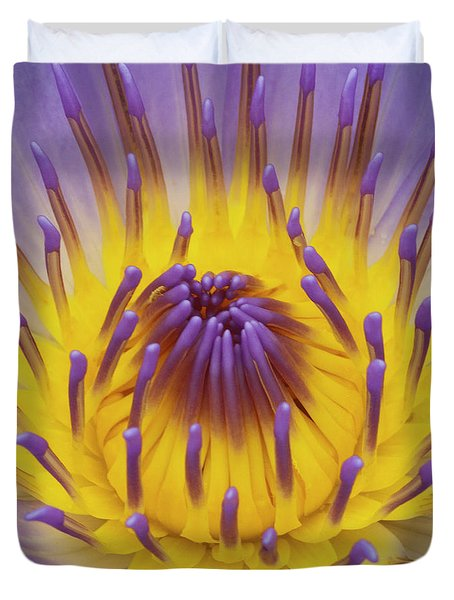 Blue Water Lily Duvet Cover by Heiko Koehrer-Wagner