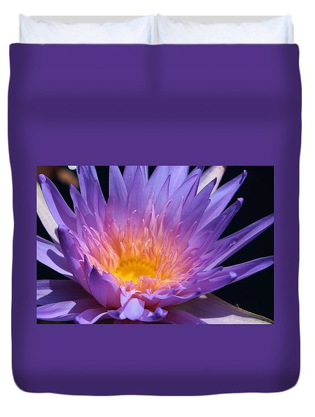Blue Waterlily 2 Duvet Cover