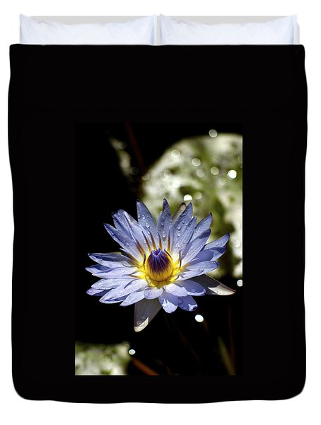 Waterlily After The Rain ... Duvet Cover by Lehua Pekelo-Stearns