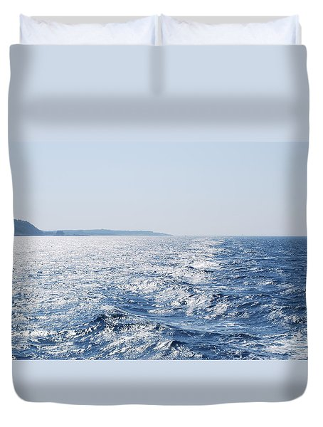 Duvet Cover featuring the photograph Blue Waters by George Katechis