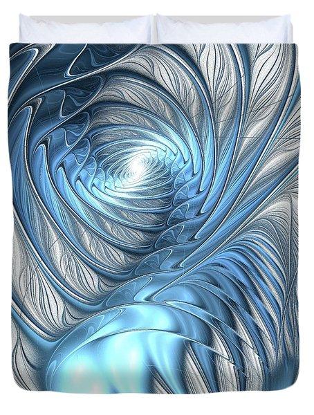 Blue Wave Duvet Cover by Anastasiya Malakhova