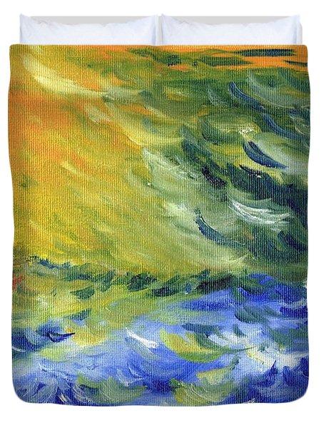 Blue Waves Duvet Cover by Teresa White