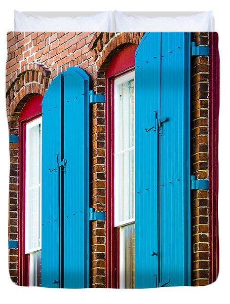 Blue Windows Duvet Cover