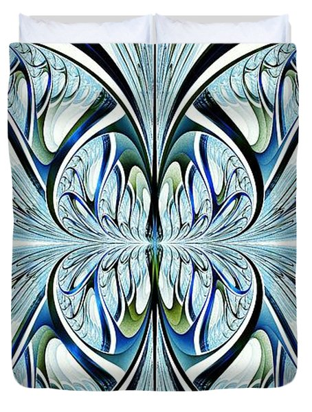 Blue Wings Duvet Cover by Anastasiya Malakhova