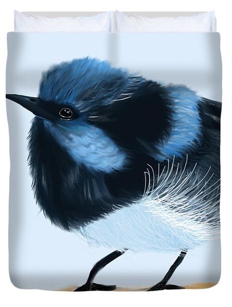 Blue Wren Beauty Duvet Cover