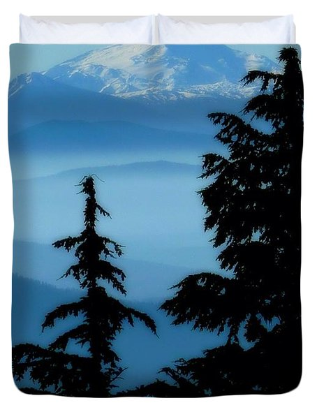 Blue Yonder Mountain Duvet Cover
