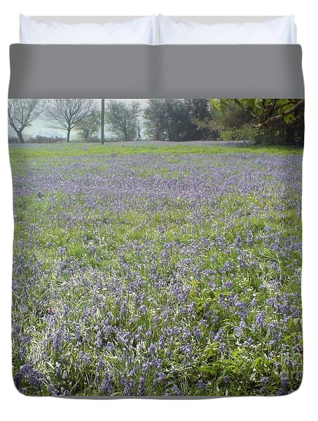 Duvet Cover featuring the photograph Bluebell Fields by John Williams