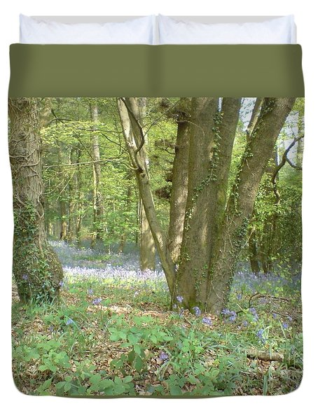 Duvet Cover featuring the photograph Bluebell Wood by John Williams