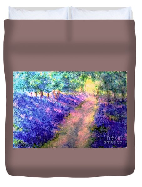 Bluebell Woods Duvet Cover by Hazel Holland