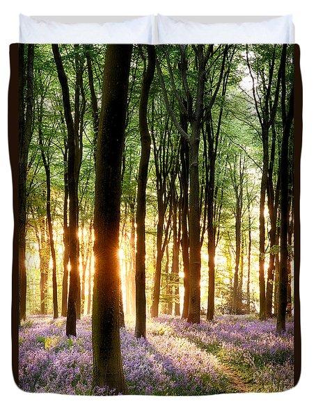 Bluebells In Sunrise Light Duvet Cover