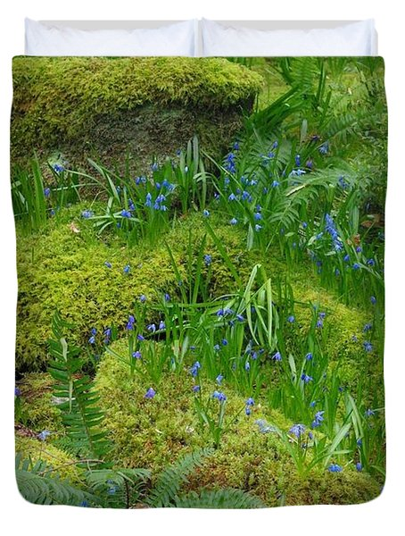 Duvet Cover featuring the photograph Bluebells  by Marilyn Wilson