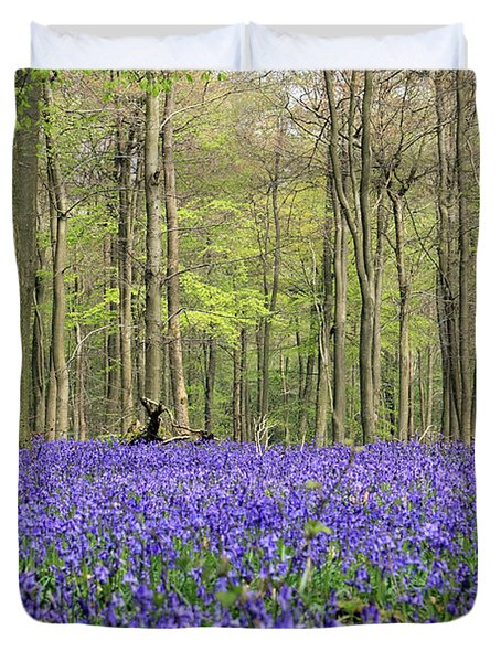 Bluebells Surrey England Uk Duvet Cover
