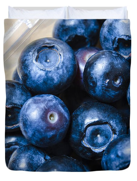 Blueberries Punnet Duvet Cover by Jorgo Photography - Wall Art Gallery