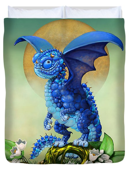 Blueberry Dragon Duvet Cover