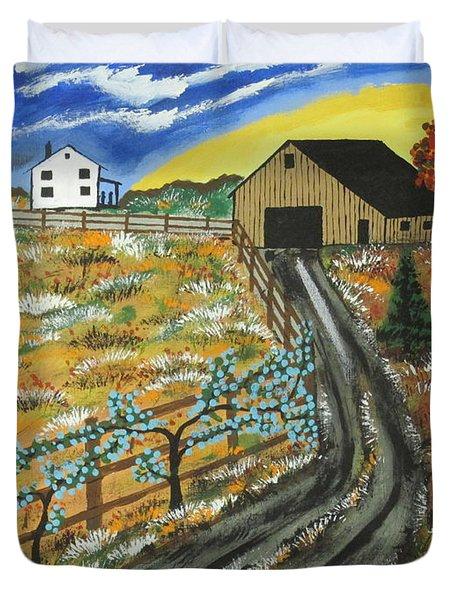 Blueberry Farm Duvet Cover
