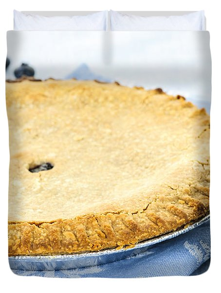 Blueberry Pie Duvet Cover