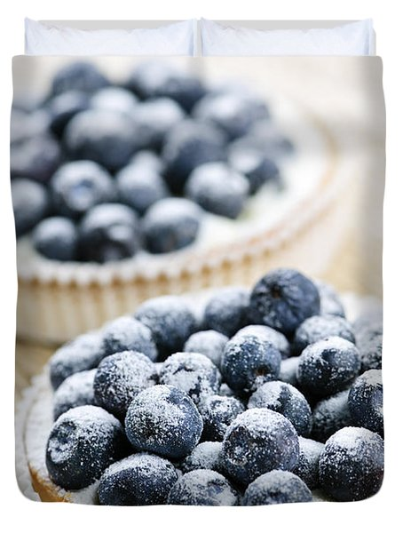 Blueberry Tarts Duvet Cover