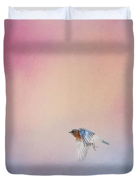 Bluebird 1 - I Wish I Could Fly Series Duvet Cover by Jai Johnson