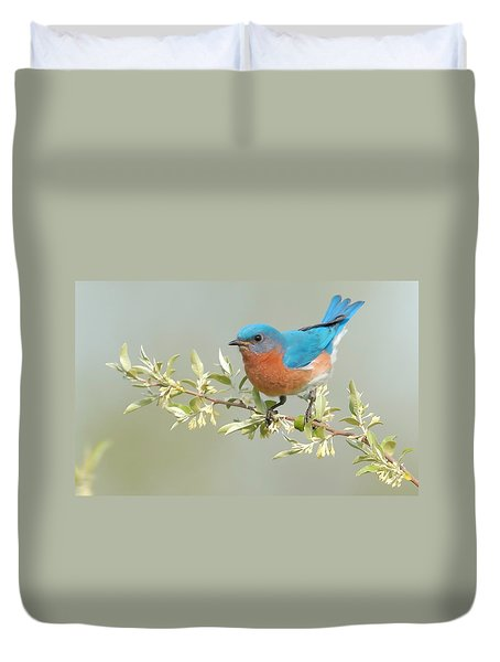 Bluebird Floral Duvet Cover by William Jobes