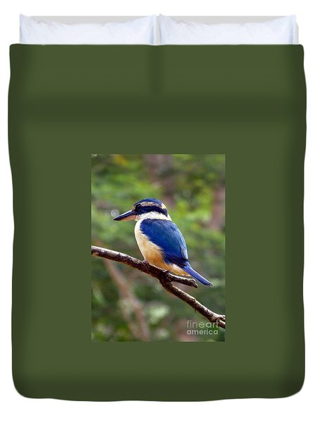 Bluebird In Suva Fiji Duvet Cover by Barbie Corbett-Newmin