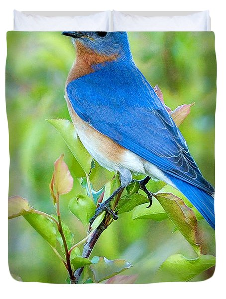 Bluebird Joy Duvet Cover