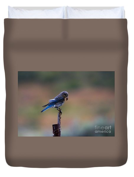 Bluebird Lunch Duvet Cover