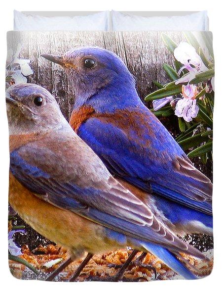 Bluebird Wedding Duvet Cover