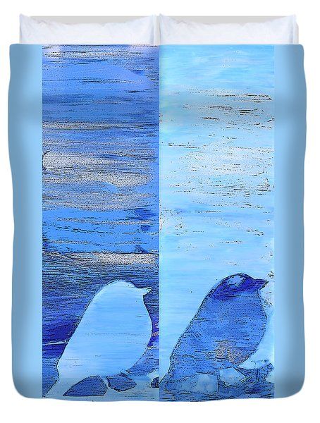 Bluebirds Duvet Cover
