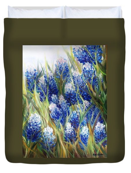 Bluebonnet Barrage  Duvet Cover
