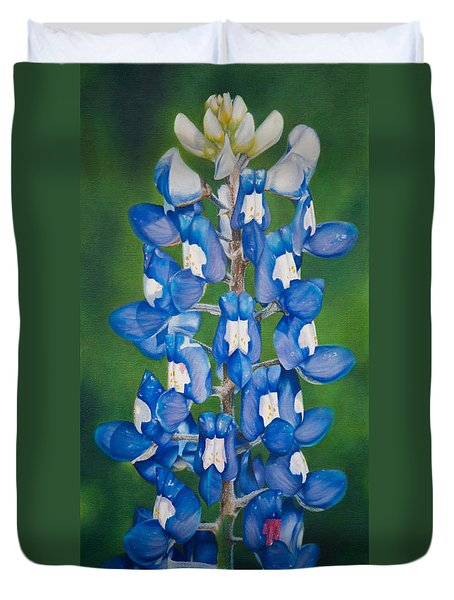Bluebonnet Buffalo Clover Duvet Cover by Dee Dee  Whittle