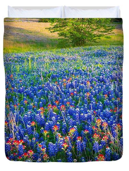 Bluebonnet Carpet Duvet Cover