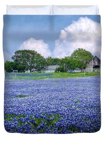 Bluebonnet Farm Duvet Cover by David and Carol Kelly