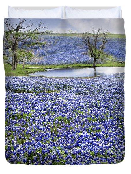 Bluebonnet Pond Duvet Cover