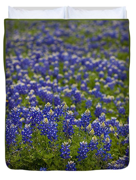 Bluebonnets Forever Duvet Cover by Mark Alder