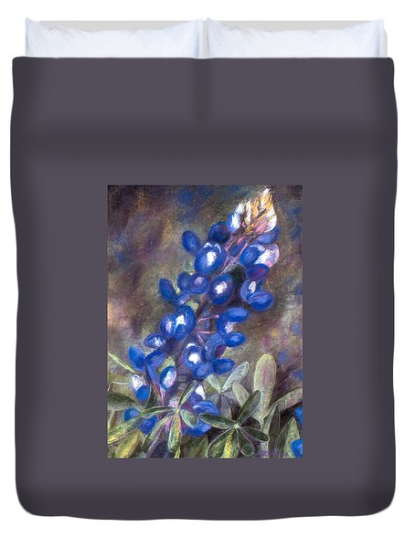 Bluebonnets Duvet Cover