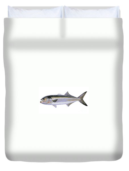 Bluefish Duvet Cover by Carey Chen