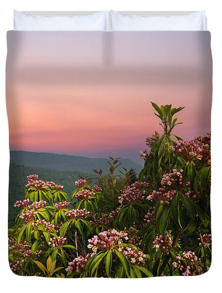 Blueridge Parkway Mountain Laurel Duvet Cover