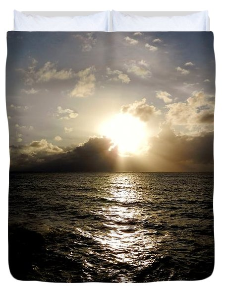 Duvet Cover featuring the photograph Blues @ Evening by Amar Sheow