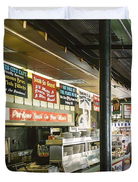 Blues City Cafe Duvet Cover