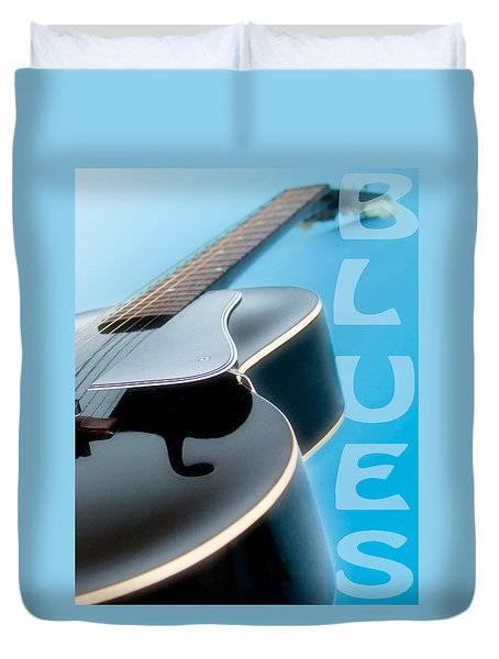 Blues Guitar Duvet Cover by David and Carol Kelly