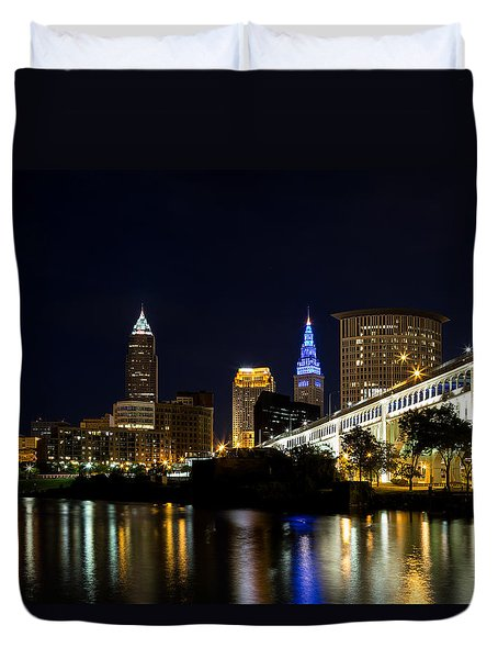 Blues In Cleveland Ohio Duvet Cover