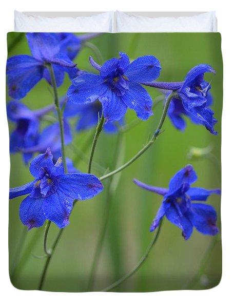 Blues In Garden Duvet Cover