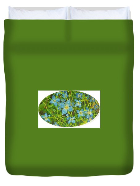 Bluets Of The Shenandoah  Duvet Cover