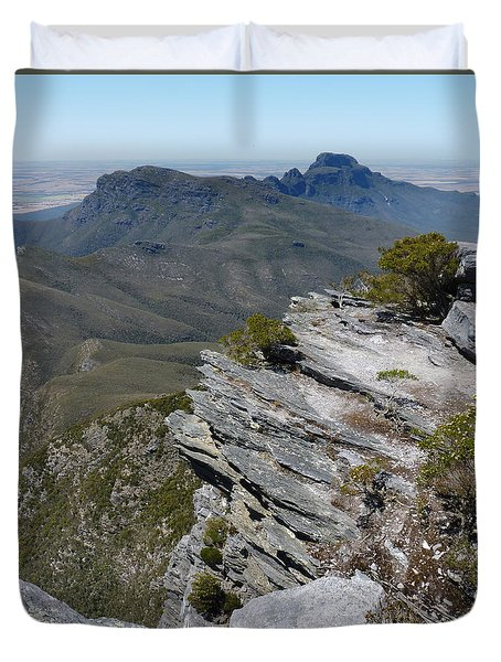 Duvet Cover featuring the photograph Bluff Knoll Summit - Western Australia by Phil Banks
