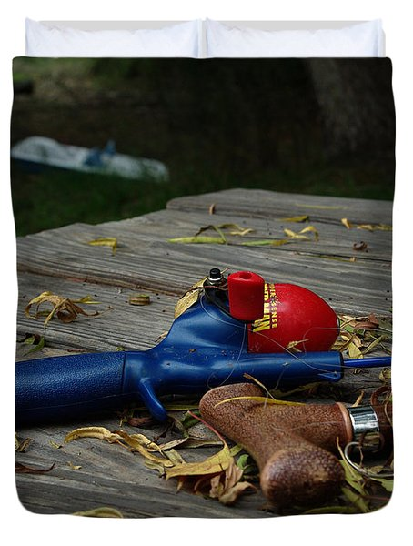 Duvet Cover featuring the photograph Blured Memories 02 by Peter Piatt