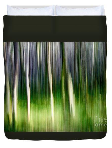 Duvet Cover featuring the photograph Blurred by Juergen Klust