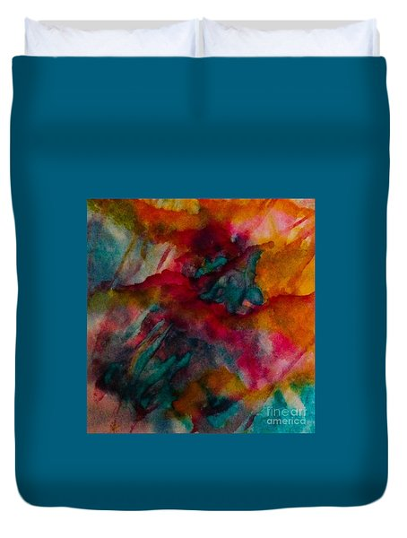 Blurring The Lines Duvet Cover
