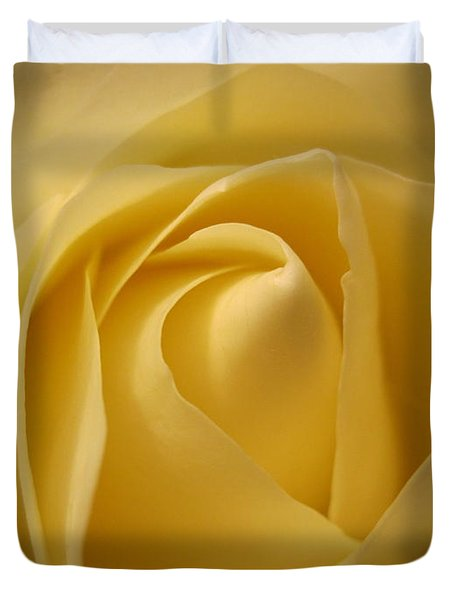 Blushing Cream Rose  Duvet Cover
