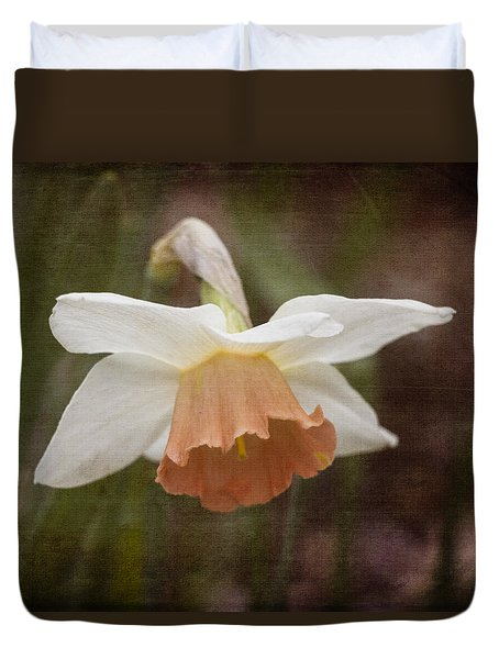 Blushing Daffodil Duvet Cover by Kathleen Scanlan